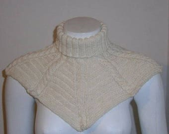 Scarf Collar Hand Knitted