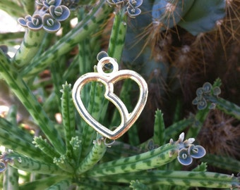 12 Kidney-Heart Charms Gold-Plated