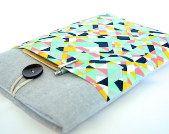 Kindle Cover, Kindle Paperwhite eReader Case, Kobo Case, Kindle Voyage Sleeve - Geometric Triangles