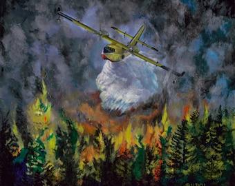 Firestormer Prints from Orginal Acrylic on Canvas