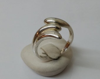 Silver ring 925 simple silver ring 19 mm, size 9.1 SR193