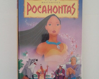Pocahontas VHS Tape, Masterpiece Edition, Walt Disney VHS Tape, Disney Classic Movies, Kid's Movies, VHS Masterpiece, Pocahontas, Vhs Tape