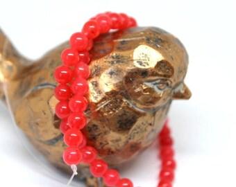 6 mm Rose Jade Round Beads