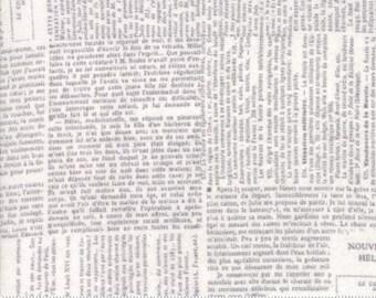 Compositions -- Newsprint in Fog -- 1/2 YD