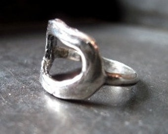 Circle Sterling Silver Ring - Size 8 - Silver Ring - Circle Ring - Sterling Ring - Ring - Gift for Her - Jewelry - Artisan Ring