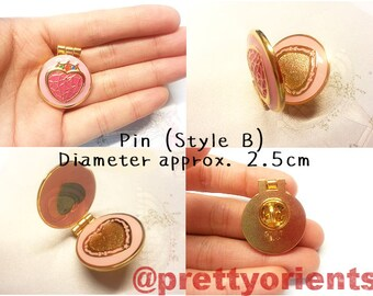 Sailor Moon Enamel Pin (Prism Heart Compact style, can be opened, sailormoon, cosplay)