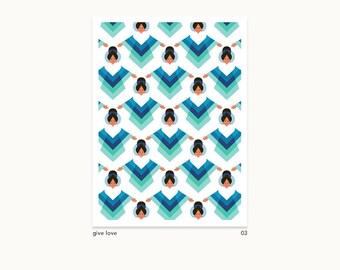A5 Giclee Prints - Woman Power - Flower power