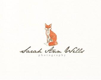 watercolor logo fox premade logo - Logo Design #410