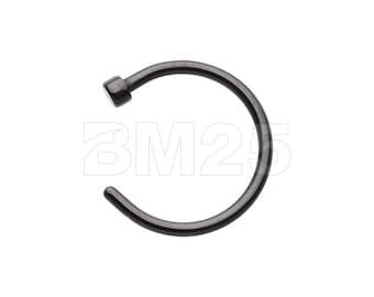 Colorline Basic Nose Hoop Ring - Black