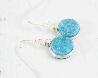 Blue Opal Earrings, Blue Topaz Earrings, Light Blue Earrings, Ocean Blue Earrings, London Blue Topaz Earrings, London Blue Earrings, Blue