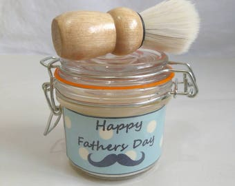 Personalised fathers day shaving soap gift set by SoapDiJour