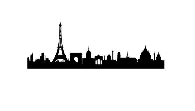 Rubber Stamp Of Paris France Skyline