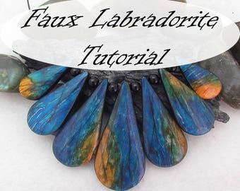 Faux Labradorite Polymer Clay Tutorial