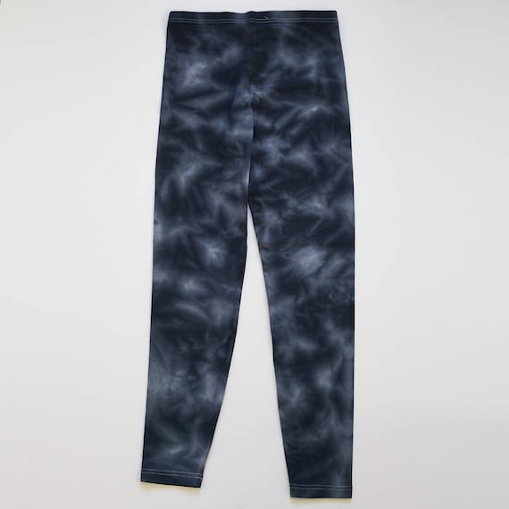 XL Blue Black Crystal Wash Leggings
