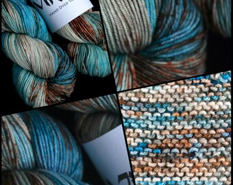 """Dyed to Order, Hand Dyed Yarn, Hand Dyed Sock Yarn, Hand Dyed DK Yarn. """"Oceanique"""""""