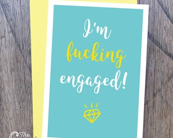 I'm engaged! - Greeting card for that exciting engagement