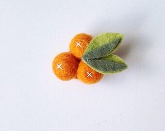 Clementine Headband or Clementine Hair Clip | Oranges Hair Clip or Oranges Headband | Fruit Headband | Fruit Hair Clip
