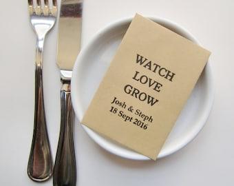 Rustic Wedding Seed Packets-Wedding Favors-Wedding Favor Ideas-Watch Love Grow-diy Wedding-Unique Wedding Favors-Country Wedding-Weddings