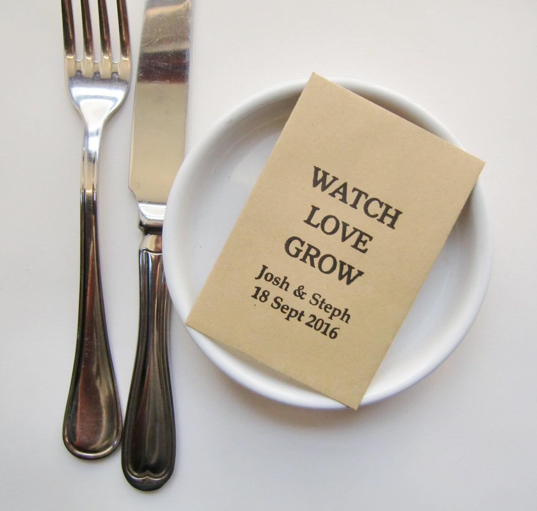 Rustic wedding seed packets wedding favors wedding favor zoom junglespirit Choice Image
