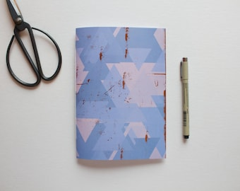 geometric journal, triangle notebook, prayer journal, travel journal, lined journal, writing journal, small sketchbook, cute notebooks