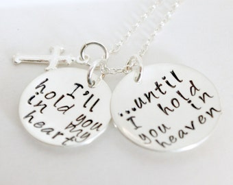 Grief Memorial Remembrance Necklace Bereavement Sympathy Jewelry - Hand Stamped Stamped Sterling Silver