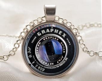 Camera pendant etsy camera lens pendant black camera jewelry camera necklace photographer gift photo pendant aloadofball Gallery