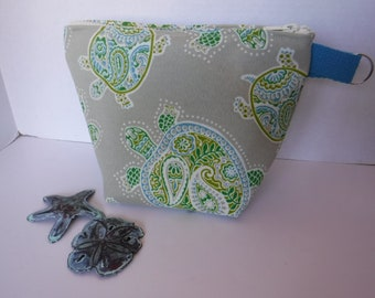 Turtle Fabric Cosmetic Case Water Resistant Fabric