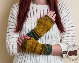 Winter Gloves, Christmas Gift For Her, Knitted Fingerless Gloves, Long Arm Warmers, Winter Gloves For Women, Christmas Gift For Coworker