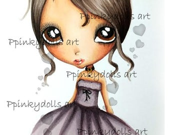 INSTANT DOWNLOAD Digital Digi Stamps..by Chrishanthi's art,Lonely Sisi''