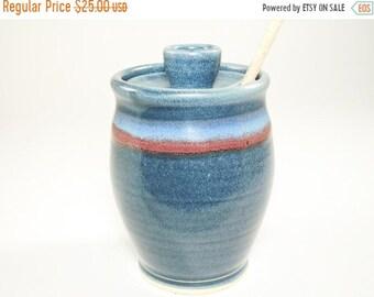 ON SALE Ceramic Honey Pot - Honey Jar - Honey Container - Pottery Honey Jar - Sauce Jar - Pottery Honey Pot - Honeypot - Sugar Bowl - In Sto