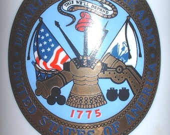 "US Army ""Retired"" ceramic coffee mug"