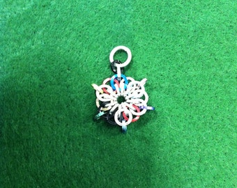 chainmaille starburst pendent