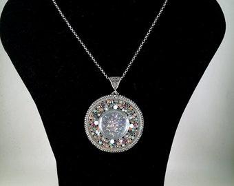 Silver Mosaic pendant