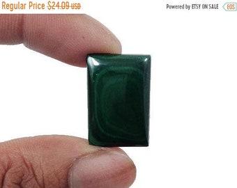 90% SALE Malachite Cabochon 33..5Ct. (23x16x5 mm) Crazy Shape Natural Gemstone NS20809