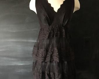Vintage Lou-Ette Lace Tiered Dress 60's