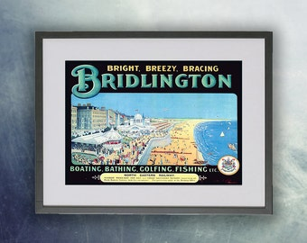 Bridlington Vintage Poster Print