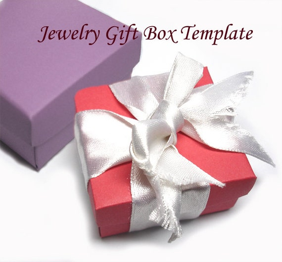 Template - Printable Square Jewelry Gift Box from Splendere on Etsy ...