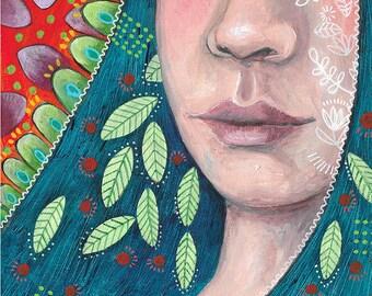 Woman portrait painting