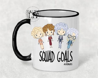 Golden Girls Coffee Mug ,golden girls,golden girls gift,golden girls mug,Blanche Sophia Rose Dorothy.Thank you for being a friend