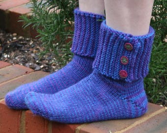 Pirate Boot Socks with Dorset buttons