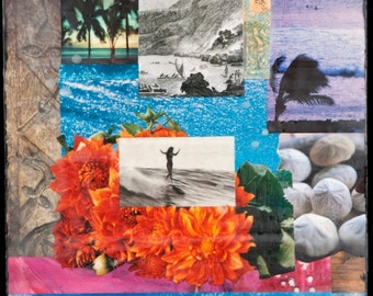 Water Dance, BEST SELLER, 8x10, 11x14, 16x20, Hand Signed Matted Print, ocean art, tropical, shells, flowers, palm trees, Hawaii, wall art