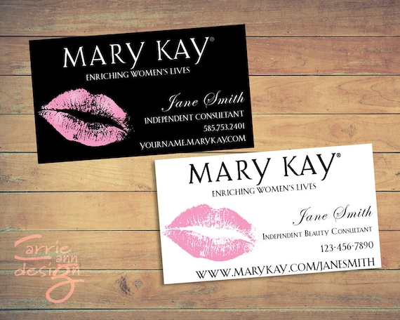 Mary kay business cards printable lips pink custom colourmoves Gallery