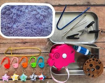Linen Lace: Knitter's Tool Tin for handknitting on the go!