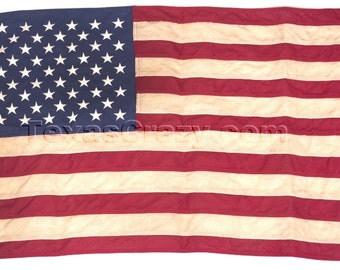 Antiqued Historical Tea Stained 3 x 5 US Flag