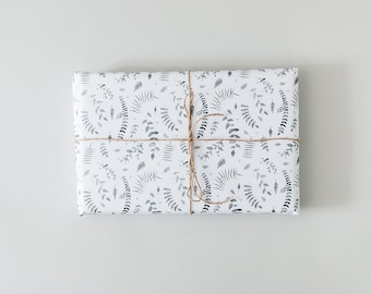 Leaf pattern gift wrap