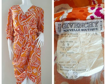 GIVENCHY Nouvelle Boutique, Silk Dress Made in France Size 40/10