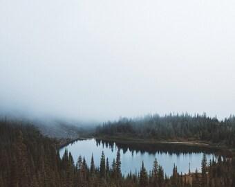 Forest Lake Digital Photo - Misty Lake Photography - Lake Printable - Nature Photo - Digital Photo - Digital Download - Instant Download