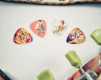 Pinup Girl Art Guitar Picks - Set of 4