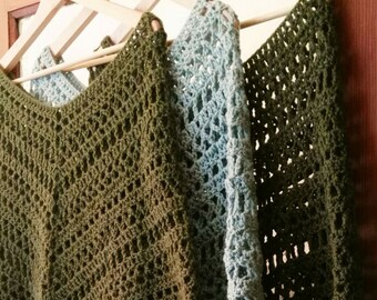 Poncho Boho au Crochet by Mü One Too