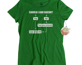 Funny Gifts for Friends Bacon T shirt Funny Gift for Her Bacon Tshirts for Women
